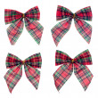 Stock Photo: Four gift red ribbon and bow