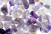 Amethyst gravel necklace and bracelet beads — Stock Photo