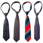 Four ties — Foto Stock