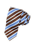 Striped blue, white and brown tie — Stock Photo