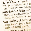 The word sustainable in the old dictionary — Stock Photo