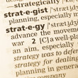The word strategy in the old dictionary - Stock Photo