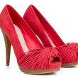Red high heel women shoes - Stock Photo
