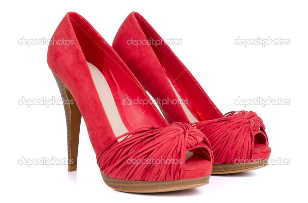 Red high heel women shoes — Stock Photo © homydesign #5815542