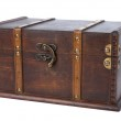 Closed antique wooden trunk — Stock Photo #5857051