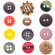 Set of sewing buttons — Stock Photo