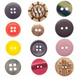 Stock Photo: Set of sewing buttons