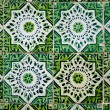 Vintage spanish style ceramic tiles - Stock Photo