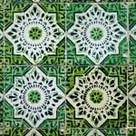 Vintage spanish style ceramic tiles — Stock Photo #5877956