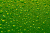 Gocce d'acqua verde — Foto Stock