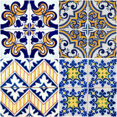 Vintage ceramic tiles — Stock Photo