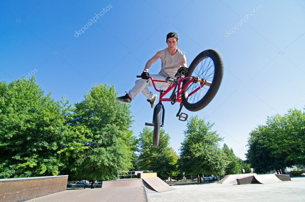 Bike Videos Bmx Bmx rider performing a tail
