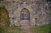 Medieval castle gate — Stock Photo