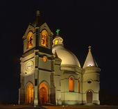 Sameiro santuary bij nacht — Stockfoto