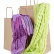 Stock Photo: Shopping bags with scarves