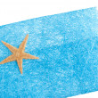 Sea star blue envelope — Stock Photo