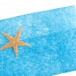 Royalty-Free Stock Photo: Sea star blue envelope