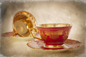 Vintage Cup and Saucer — Stock Photo