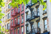 Tenement Apartment Buildings — Stock Photo