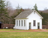 A typical American one room schoolhouse — Stock Photo