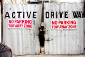 No Parking Zone — Stock Photo