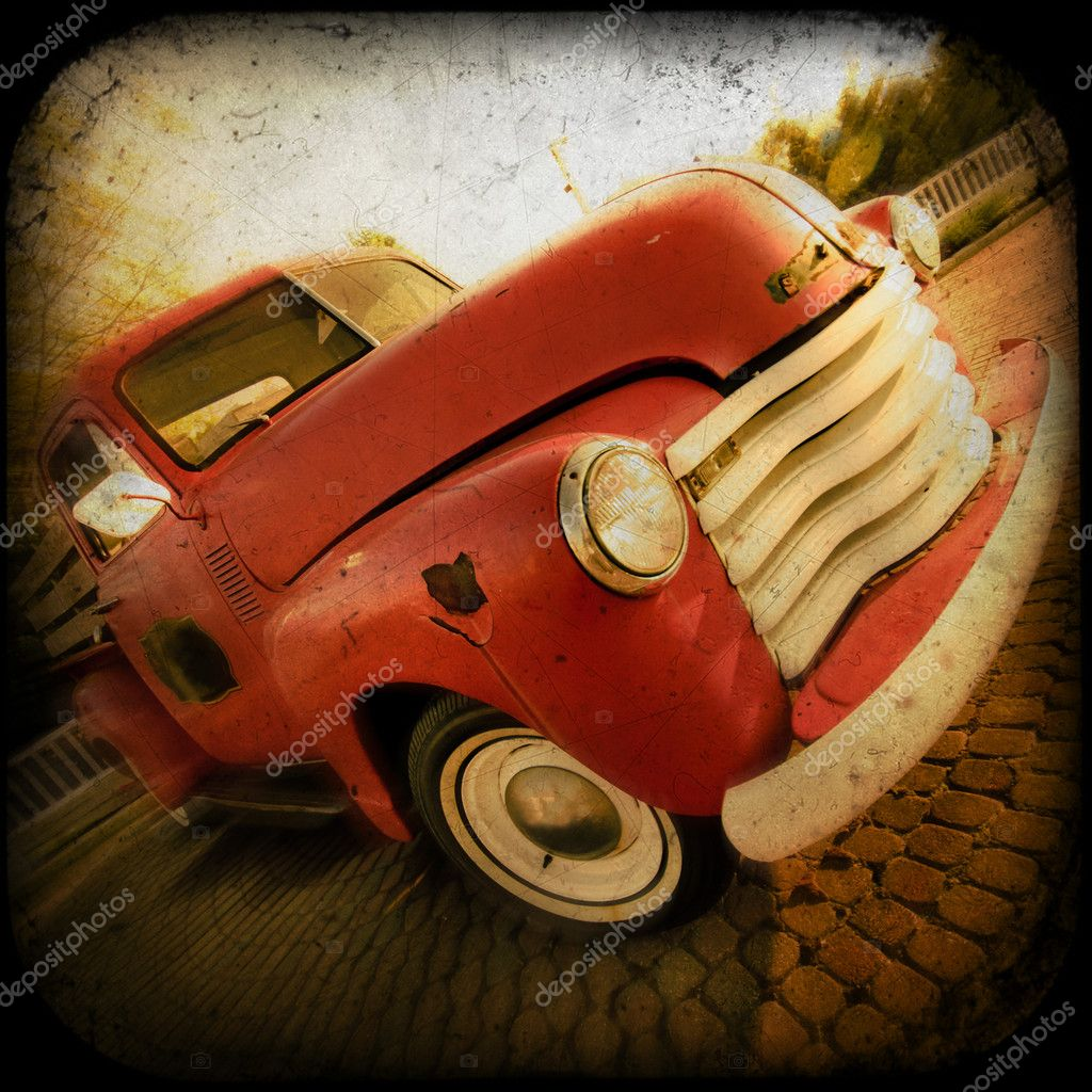 Vintage pickup truck with an artistic texture — Stock Photo #5832602