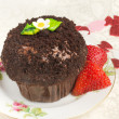 Decadent Chocolate Cupcake — Stock Photo #5868841