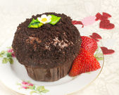 Decadent Chocolate Cupcake — Stock Photo