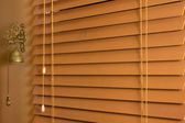 Wood Window Blinds — Stock Photo