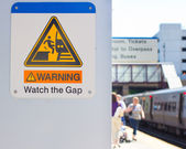 Watch The Gap — Stock Photo