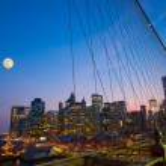 NYC View from Brooklyn Bridge — Stock Photo