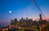 NYC View from Brooklyn Bridge — Foto de Stock