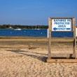 Bathing Sign — Stock Photo #6118863