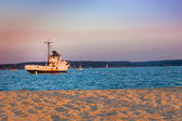Boat at end of Day — Stock Photo