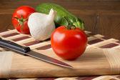 Tomato and Veggies — Stock Photo