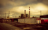 Toxic Industrial Area — Stock Photo