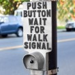 Pedestrian Crosswalk Button - Stock Photo
