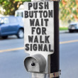 Pedestrian Crosswalk Button — Stock Photo