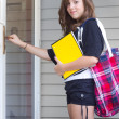Stock Photo: Coming Home From School