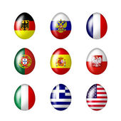 International eggs — Stock Photo