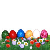 Easter with the Easter eggs — Stock Photo