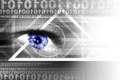 цифровые кибер-пространстве — Стоковое фото