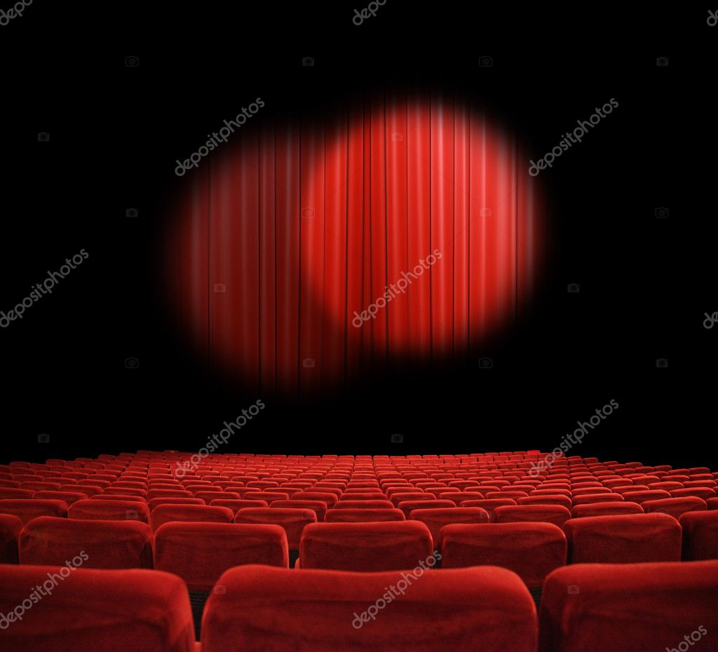 Classic cinema with red seats — Stock Photo #5443130