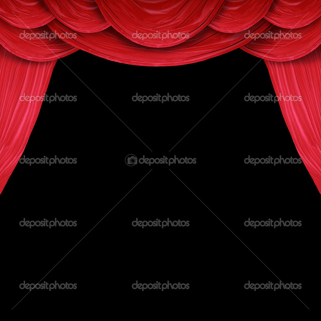 Red curtain of a classical theater   Stock Photo #5443144