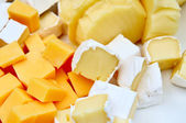 Various pieces of cheese — Stock Photo