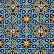 Oriental pattern on tiles - Stockfoto