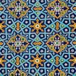 Oriental pattern on tiles — Stock Photo