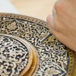 Art of wood carving. - Stock Photo
