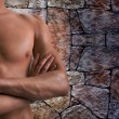 Shoulder and arm naked male body — Stock Photo