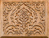 Art of wood carving. — Stock Photo